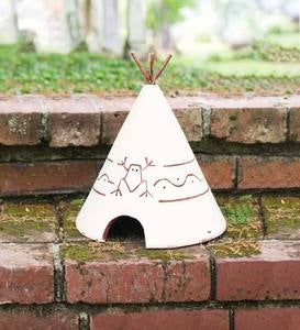 Teepee-Style Clay Toad House