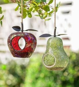 Glass Mosaic Fruit-Shaped Bird Feeder