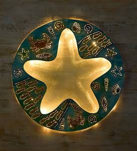 Starfish Metal and Glass Wall Art