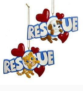 Rescue Pets Ornament, Set of 2
