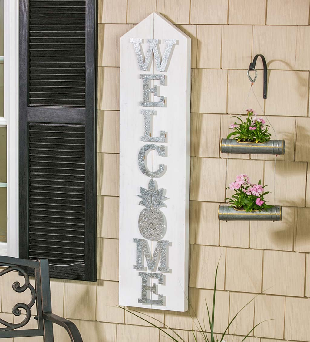 LED Wooden Welcome Sign