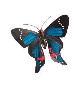 Metal and Plexiglass Butterfly Wall Art - Blue