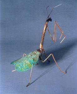 Praying Mantis Copper Garden Stake