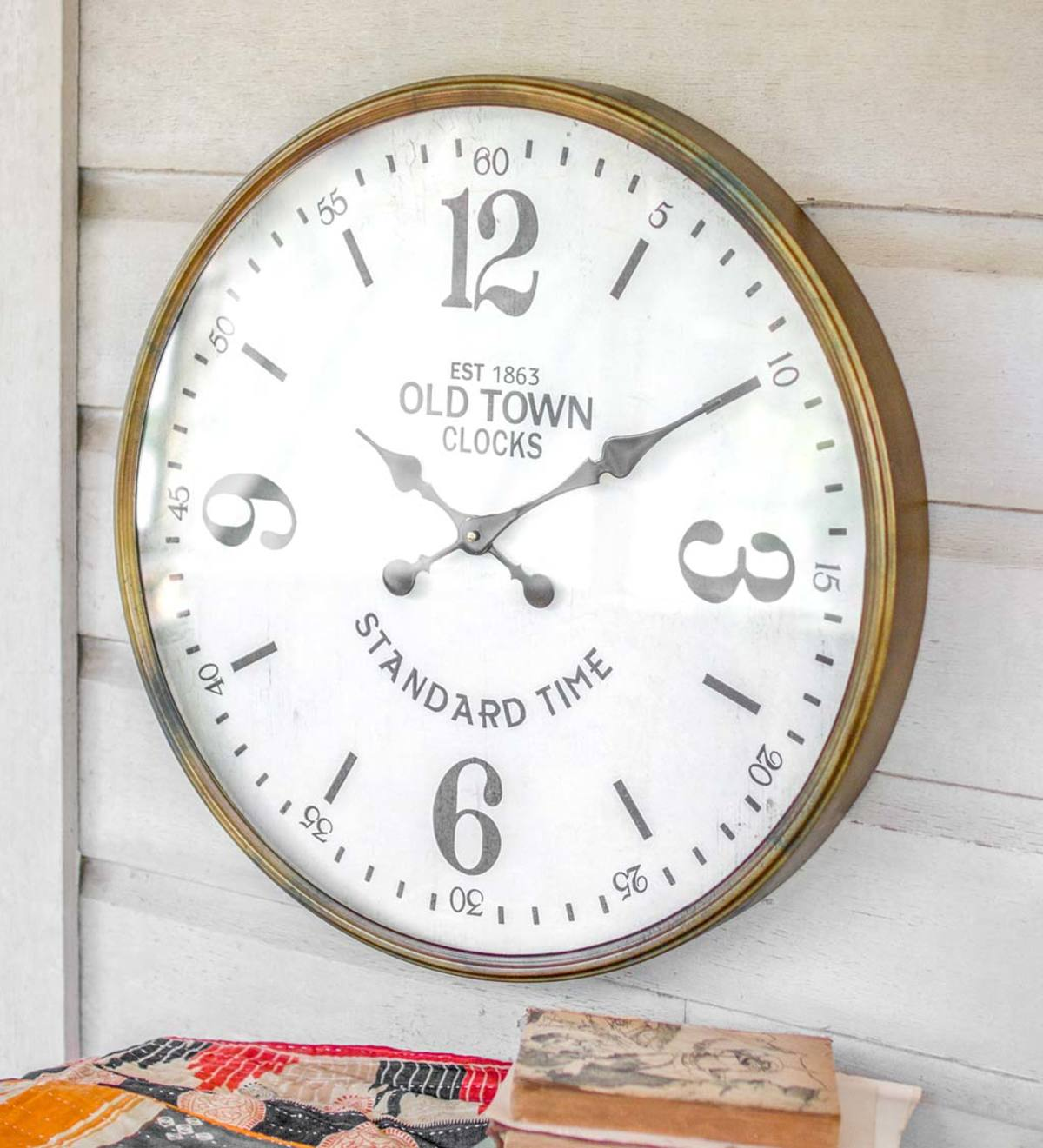 Old Town Station Analog Wall Clock