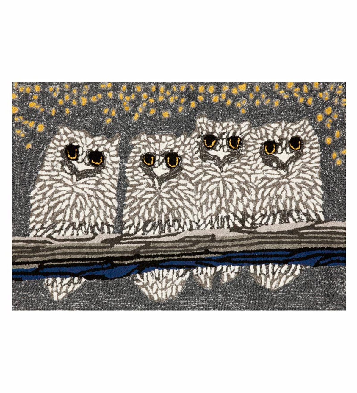 Extra Large Night Owls Indoor/Outdoor Accent Rug - 27