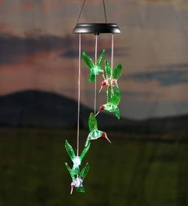Color-Changing Solar Hummingbird Mobile with Laser