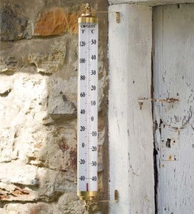 Extra-Large Brass Thermometer