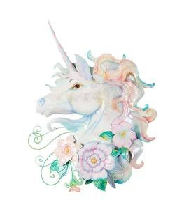 Unicorn Metal and Capiz Wall Art