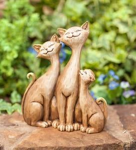 Three Cats Sculpture