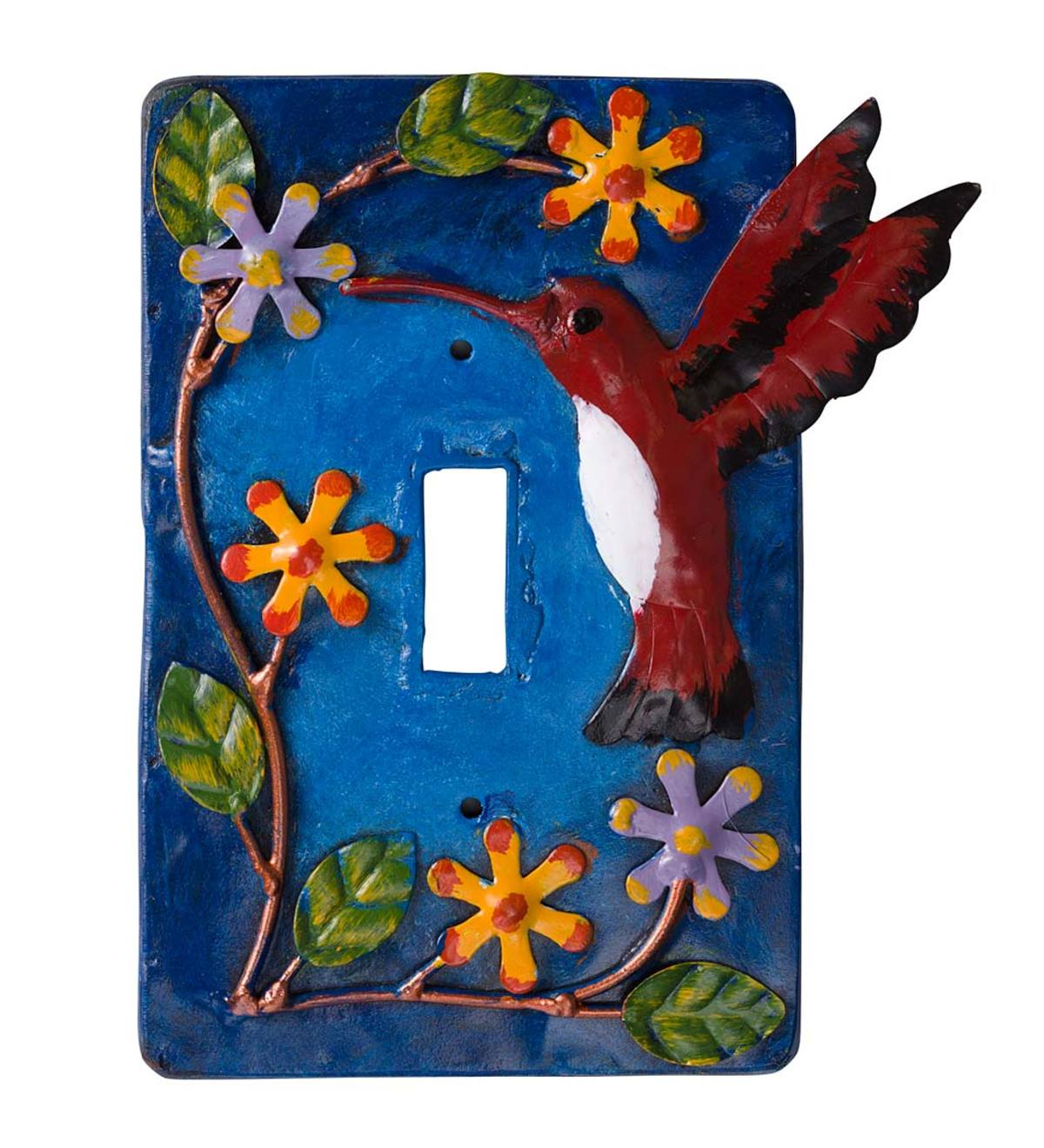Hand-Painted Light Switch Cover - Hummingbird