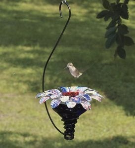 Handmade Mini Blossom Flower Hummingbird Feeder With Hanging Hook