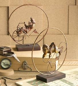 Whimsical Cyclist Sculptures