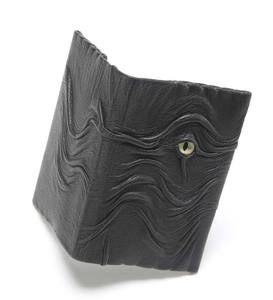 Black Leather Dragon Business Card Holder