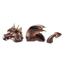 3-Piece Metal Dragon Garden Stake