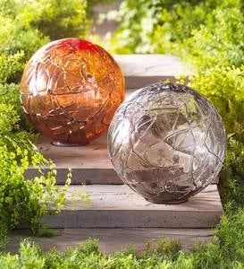 Lighted Solar Glass Orb