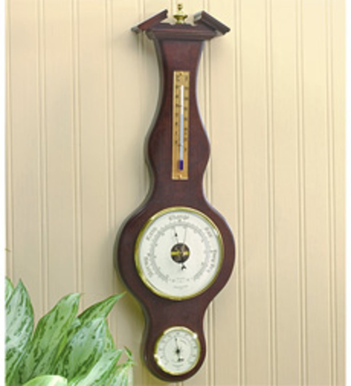 Banjo Barometer - Light Oak