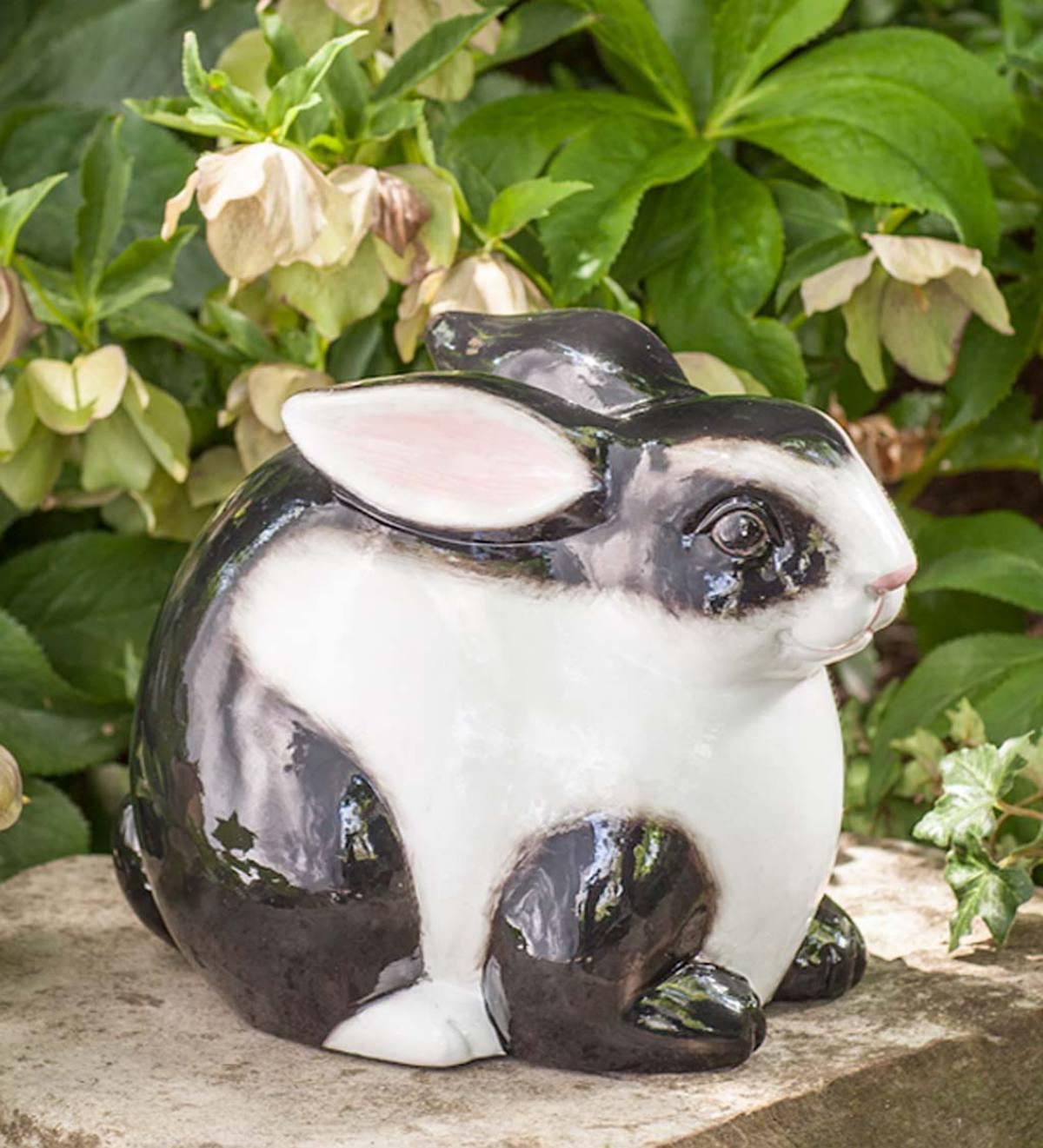 Black U0026 White Ceramic Bunny