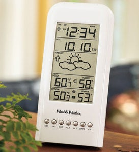 Indoor/Outdoor Weather Minder with Clock and Calendar
