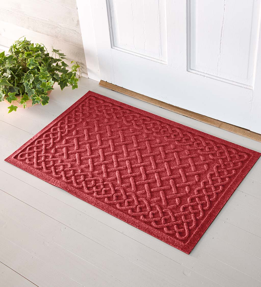 Waterhog Cable Weave Doormat, 2' x 5' - Red