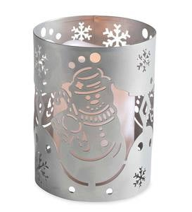 LED Lighted Holiday Metal Lantern - Snowman