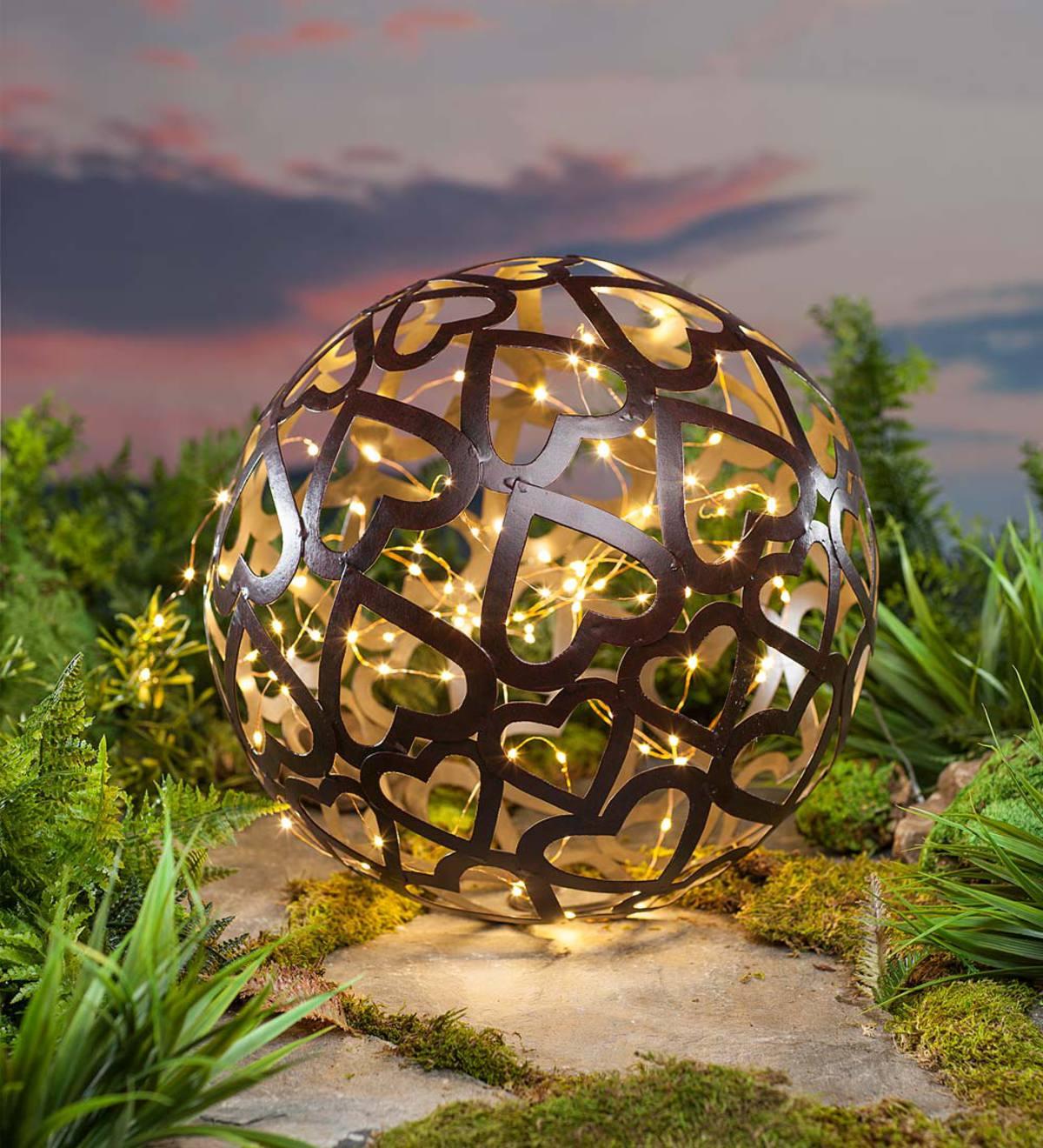 Large Metal Heart Ball | Garden Sculptures | Garden Décor by Type ...