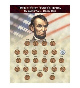 Lincoln Wheat Penny Coin Collection