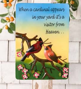 Inspirational Cardinal Metal Wall Art