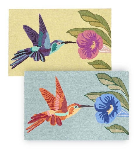 "Hummingbird Indoor/Outdoor Rug, 24""W x 36""L"