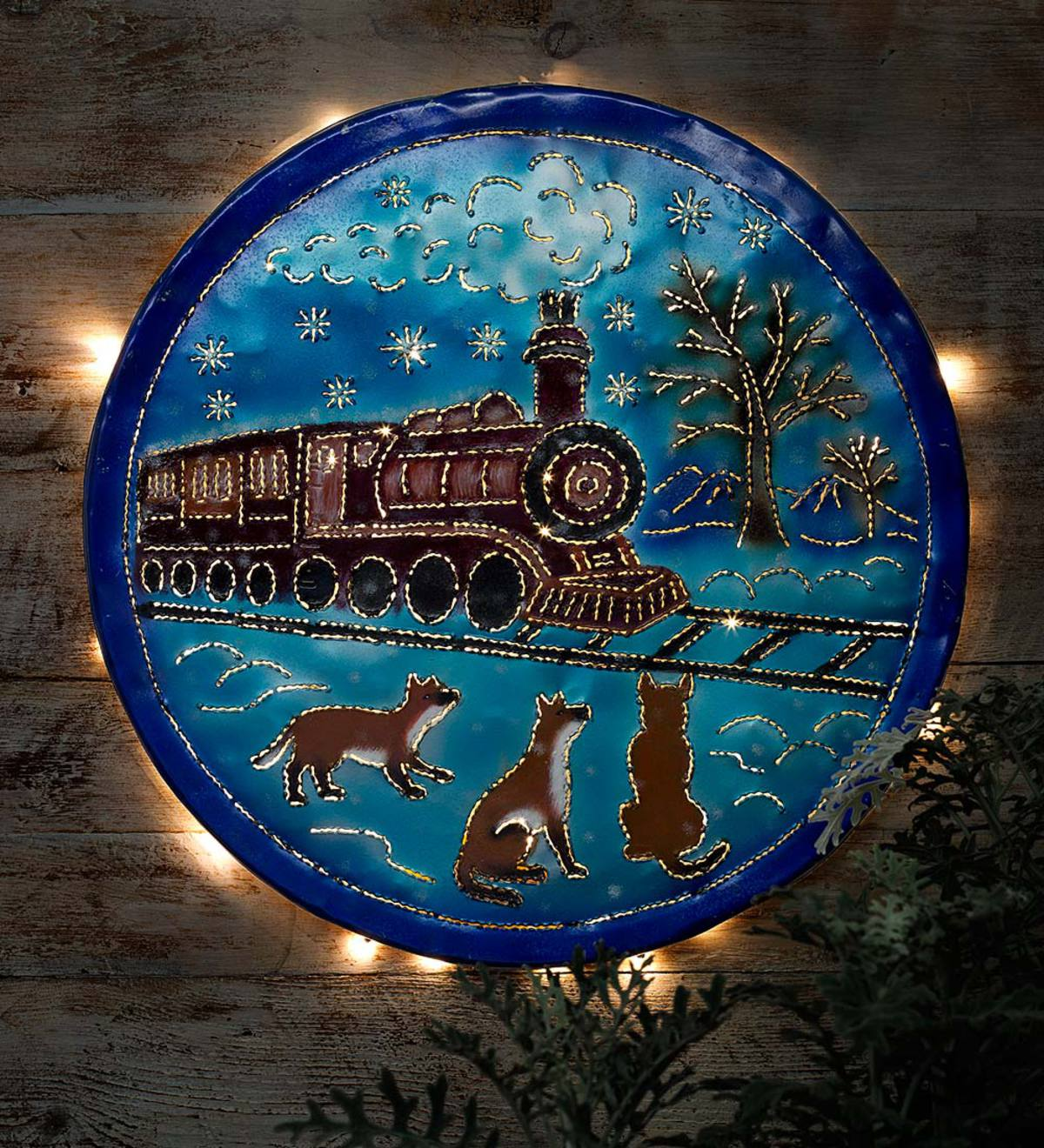 Lighted Winter Train Wall Art