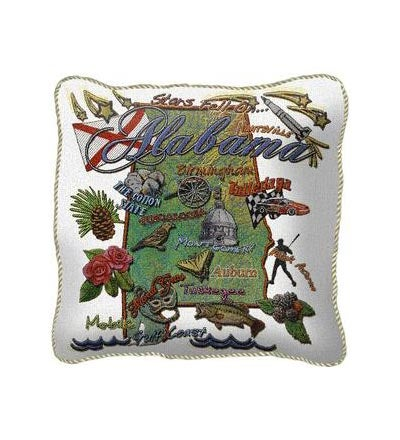 American-Made Cotton Jacquard American States Pillows
