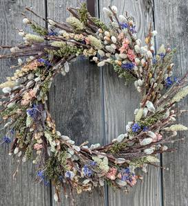 Pussy Willow and Flowers Preserved Wreath