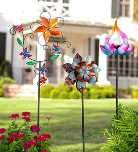 Colorful Flower and Vine Metal Wind Spinner