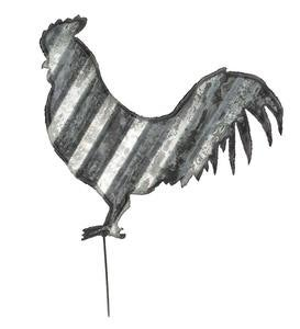 Corrugated Steel Animal Garden Stake - Rooster