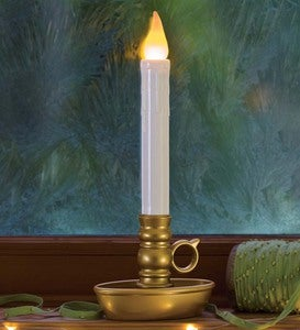 Cordless Battery Window Candles With Timer