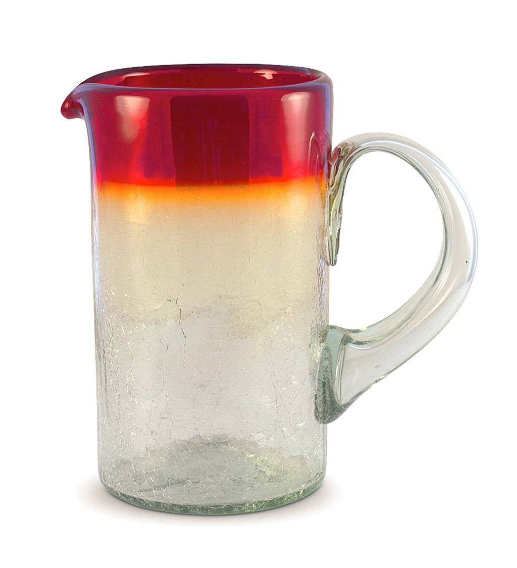 Maya Recycled 64oz Pitcher - Red