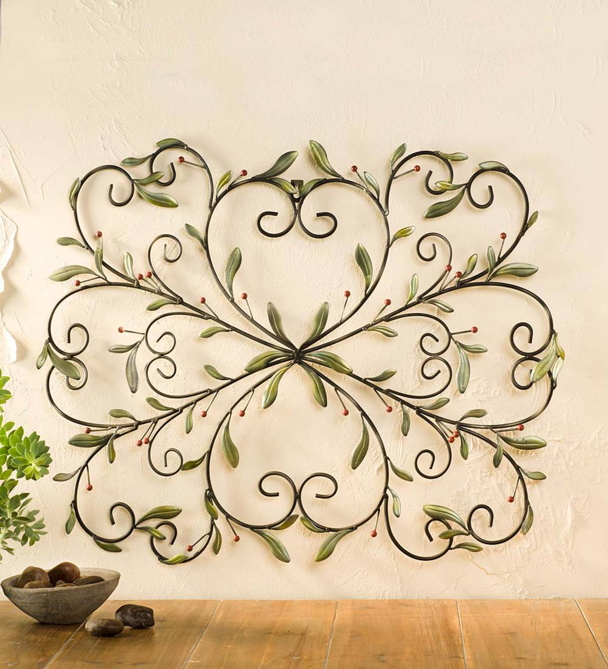 Iron Holly Wall Art