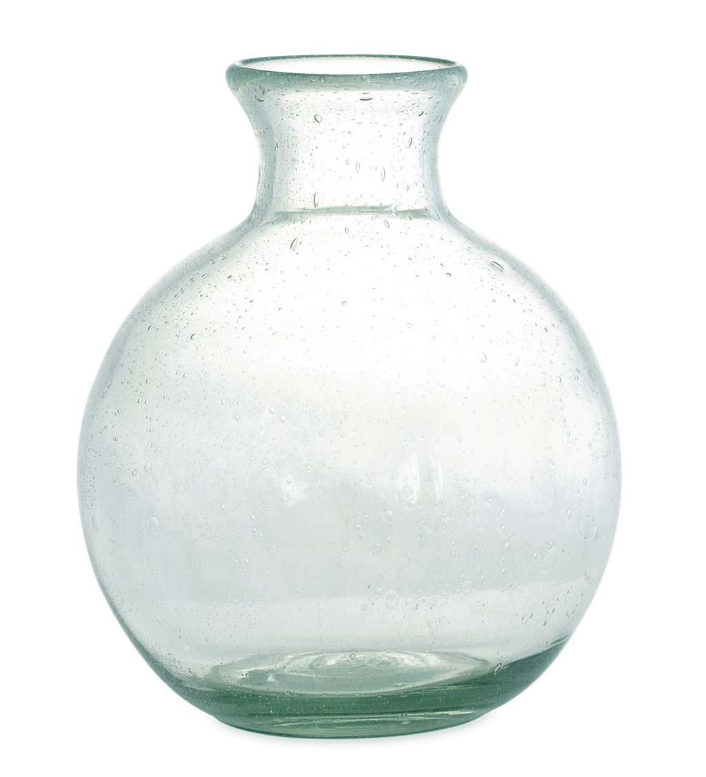 Recycled Clear Glass Round Apothecary Vase Wind And Weather