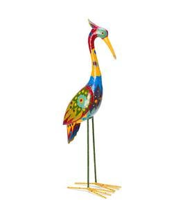 Colorful Metal Crane Sculpture