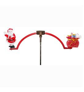 Solar Lighted Santa and Presents Balancer Garden Stake