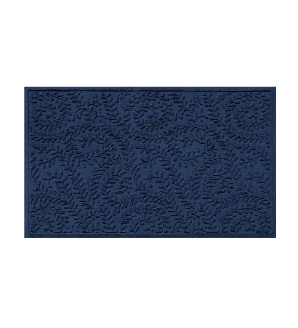 Waterhog Indoor/Outdoor Leaves Doormat, 3' x 5' - Bluestone