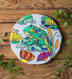 Color-Your-Own Frog Garden Stone