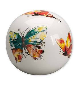 Ceramic Watercolor Globe - Butterfly