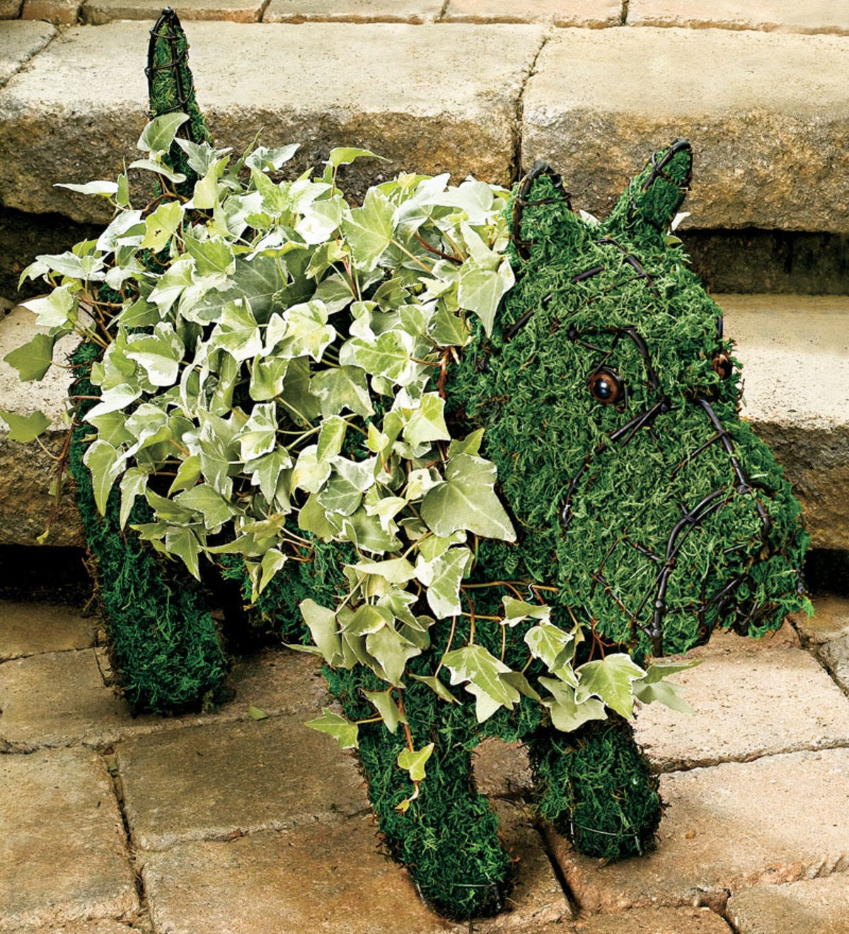 Scottie Topiary Frame Wind And Weather