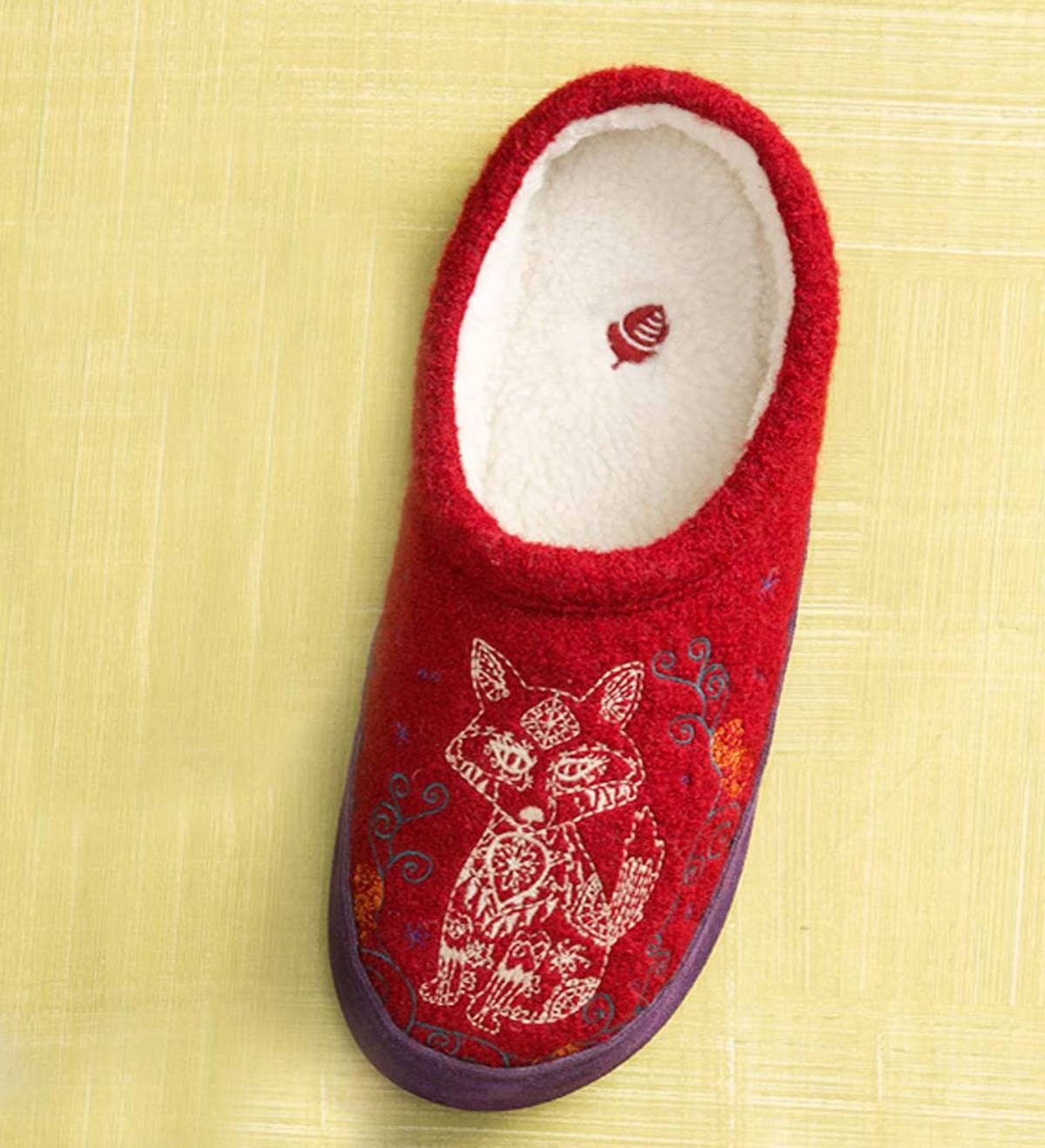 Acorn® Forest Mules Womens Slippers - Red Fox - M(6-1/2-7-1/2)