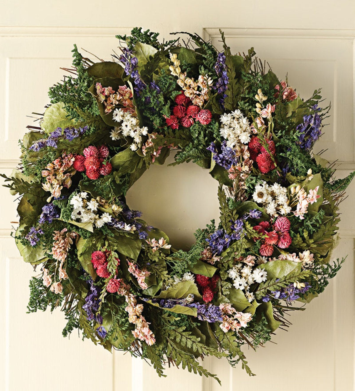 Rose and Lavender Wreath
