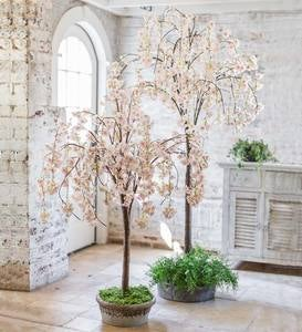 Lighted Faux Weeping Cherry Tree
