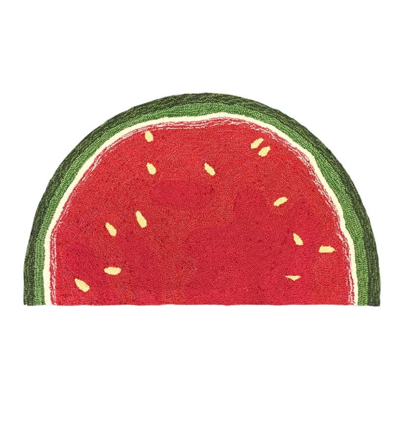 "Fruit Slice Indoor/Outdoor Half-Round Rug, 20""W x 30""L"