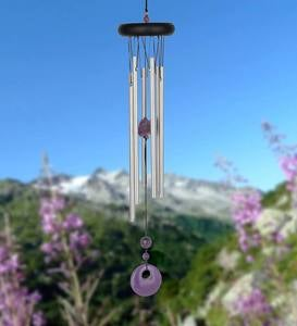 Silvertone and Amethyst Chakra Wind Chime