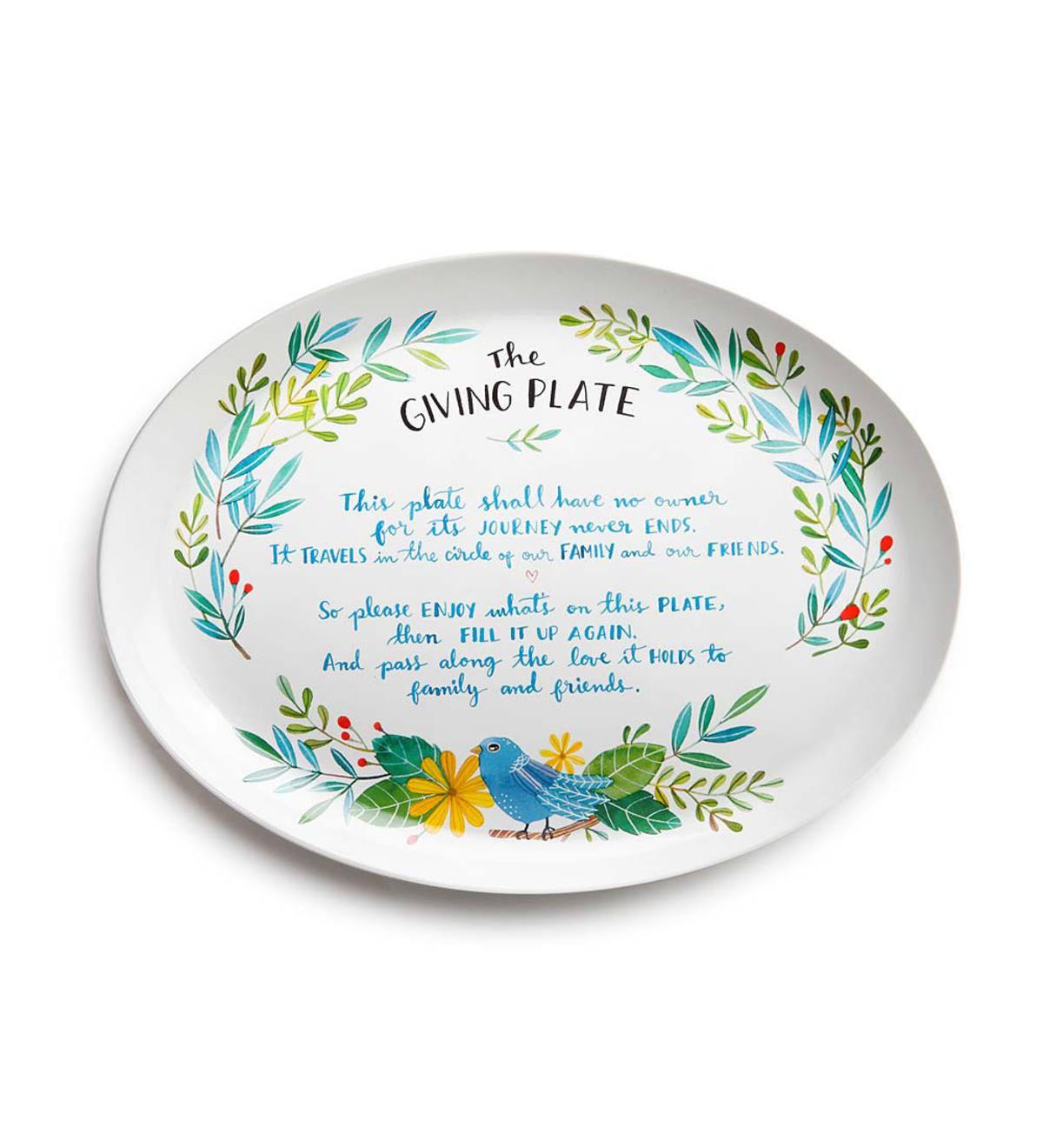 Traditional Ceramic Giving Platter