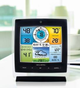 Color Weather Station with Wireless 5-in-1 Remote Wind and Rainfall Sensor
